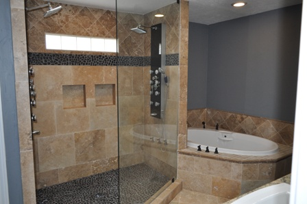 Good Unbelievably, This 1980u0027s Master Bathroom Started Out With A Corner Shower  And 2 White Vanities As Shown In Left Picture U2026 We Gutted The Entire  Bathroom And ... Design Ideas
